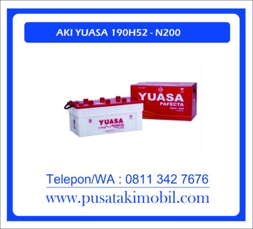 AKI GENSET YUASA N200 | AKI BASAH MERK YUASA 190H52-200AH