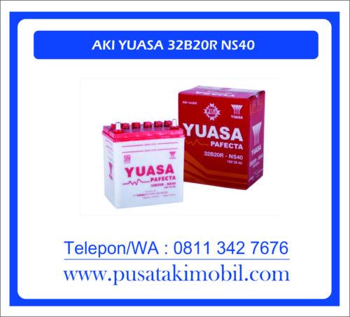 AKI MOBIL YUASA 32B20R / NS-40 | AKI YUASA BASAH 32AH