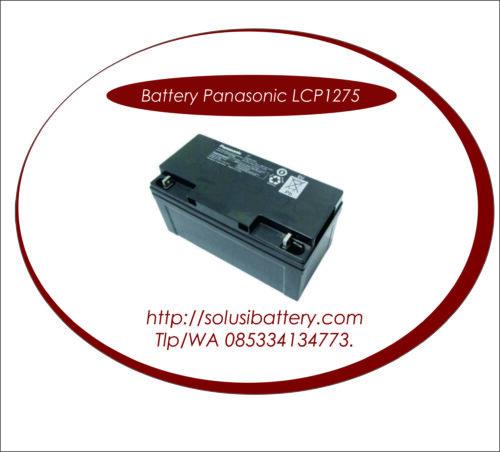 BATTERY UPS PANASONIC 12V75AH | BATERAI UPS PANASONIC SURABAYA