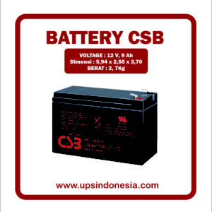 BATTERY UPS CSB UPS 12460 6 F2 | BATTERY VRLA AGM CSB 9 AH