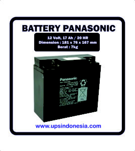 BATTERY UPS PANASONIC 12V17AH | BATERAI UPS PANASONIC SURABAYA