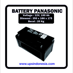 BATTERY UPS PANASONIC 12V100AH | BATERAI UPS PANASONIC SURABAYA