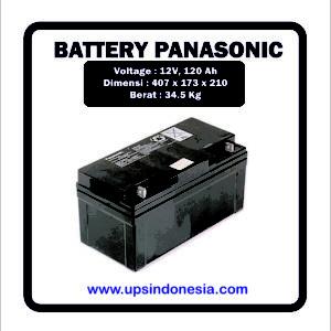 BATTERY VRLA PANASONIC 12V120AH | BATERAI KERING PANASONIC LC-P12120