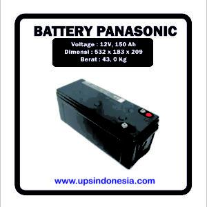BATTERY VRLA PANASONIC 12V150AH | BATERAI UPS PANASONIC SURABAYA