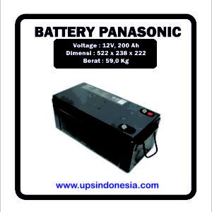 BATTERY VRLA PANASONIC 12V200AH | BATERAI KERING PANASONIC SURABAYA