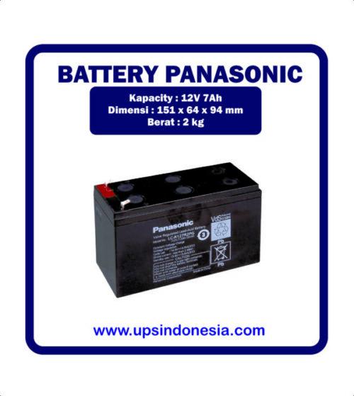 BATTERY VRLA PANASONIC LC–V127R2NA | BATTERY UPS SURABAYA