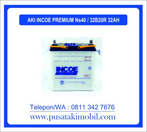 AKI INCOE PREMIUM NS40 / 32B20R (32Ah) | AAKI BASAH UNTUK MOBIL AVANZA