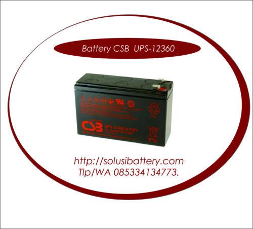 BATTERY CSB UPS 123606 F2 | BATTERY VRLA AGM MERK CSB 12V 6 AH SLIM