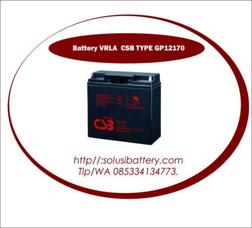 BATTERY UPS CSB 12V17AH | BATTERY VRLA AGM CSB GP12170