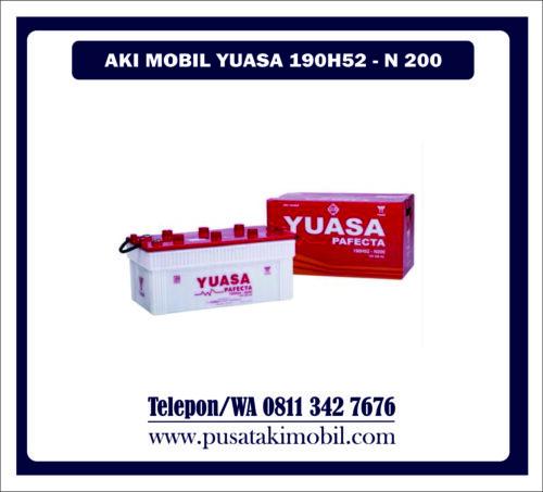 AKI MOBIL YUASA 190H52 / N-200   AKI YUASA BASAH 200AH