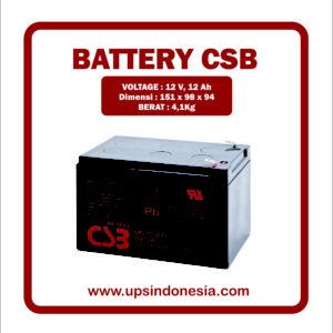 BATTERY UPS CSB GP12120 | BATTERY VRLA AGM CSB 12V 12AH